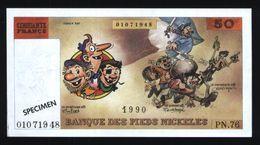 50 Francs Les Pieds Nickelés ( Lot N°612 - 2 ) - Specimen