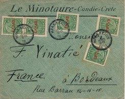 Lettre Le Minotaure Candie Crete Pour Bordeaux - Crète