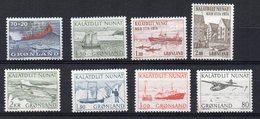 GROENLANDIA  1973/76 - ALCUNI VALORI - GOMMA BICOLORE - MNH ** - Greenland