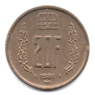 20 FRANCS 1981 LUXEMBOURG - Luxembourg