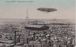 FRANCE 1909 CARTE POSTALE DE PARIS  DIRIGEABLE - Dirigeables