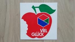 Aufkleber Mit Darstellung Eines Apfels (Lotto-Werbung; Deutschland) - Aufkleber