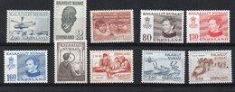 GROENLANDIA  1977/81 - ALCUNI VALORI - GOMMA BICOLORE - MNH ** - Greenland