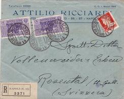 Brief Von Napoli In Die Schweiz / Garibaldi (br3712) - 1900-44 Vittorio Emanuele III