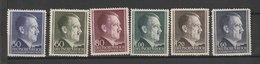Generalgouvernement / Freimarken: Adolf Hitler / MiNr: 83-88 - Besetzungen 1938-45
