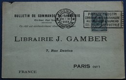 Carte Commerciale FIRENZE Pour PARIS. 1922. - 1900-44 Vittorio Emanuele III