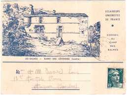 CPA LOZERE.ECLAIREURS UNIONISTES DE FRANCE.CONSEIL DU CAMP DES BALMES.BARRE DES CEVENNES - Francia