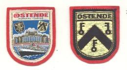 OOSTENDE / OSTENDE - Lot De 2 écussons En Tissu Brodé (hol) - Ecussons Tissu
