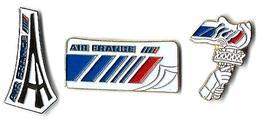 A4 - AIR FRANCE - PARIS-NEW YORK - 3 Pin's - Verso : PRODIMPORT - Vliegtuigen