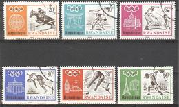 1968 Serie OPB/COB Nr 263/68 Gest.  -  Mexico Olympic Games  Olympische Spelen  Jeux Olympiques - Rwanda