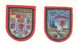 Grand - Duché De LUXEMBOURG - 1000 Ans -  Lot De 2 écussons En Tissu Brodé (hol) - Ecussons Tissu