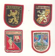 Belgique - Brabant - Bruxelles -  Lot De 4 écussons En Tissu Brodé (hol) - Ecussons Tissu