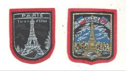 PARIS -  Lot De 2 écussons En Tissu Brodé (hol) - Patches