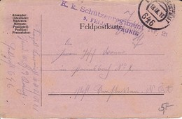 Feldpostkarte - K.k. Schützenregiment Nr. 21 - 1918 (34606) - Briefe U. Dokumente