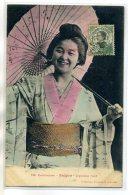 COCHINCHINE SAIGON 156 Poujade - Japonaise Et Son Ombrelle Riant  1911 écrite Timb      /D12-2018 - Viêt-Nam