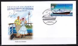 Nouvelle Calédonie 2016 Les Paquebots De Légende The Legendary Steamship Boat Ship Le Calédonien 1952-1977  FDC - Bateaux