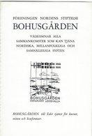 Sweden - Bohusgården Uddevalla. Föreningen Nordens Stiftelse. 3 Scans .  H-1359 - Old Paper