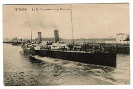 Ostende - La Malle Partant Pour Douvres - 1926 -  2 Scans - Oostende