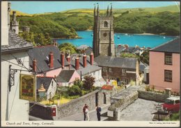 Church And Town, Fowey, Cornwall, 1978 - John Hinde Postcard - Other