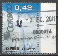 Spain 2007. Scott #3515c (U) People Pulling Sleds, Scene From Television Show ''Al Filo De Lo Imposible'' * - 2001-10 Oblitérés
