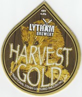 LYTHAM BREWERY (LYTHAM ST ANNES, ENGLAND) - HARVEST GOLD - PUMP CLIP FRONT - Signs
