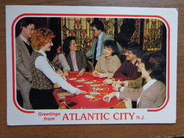 Speelkaarten / Greetings From Atlantic City - Blackjack Table And Players --> Onbeschreven - Cartes à Jouer