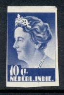 Nederlands Indië - 1933 - Proef 174b  - Wilhelmina 10 Cent Ultramarijn Middenstuk In Groot Formaat, Ongetand - Indes Néerlandaises