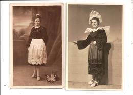 CARTE PHOTO Et PHOTO Format Cpa - Femmes En Costume Vers 1920/30 - à Identifier - Frankrijk