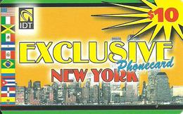 IDT: UTA Exclusive - New York 3 Month, No Tel No On Front - Vereinigte Staaten