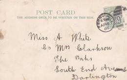 Postcard Family History Miss White / Mrs Clarkson The Oaks Darlington & Good1905 Ferryhill Durham Cancel My Ref  B12145 - Genealogy