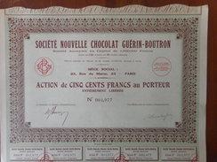 CHOCOLAT Guerin Boutron        PARIS Rue Du Maroc - Aandelen