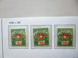 SUISSE / SCHWEIZ / SWITZERLAND // 1927, Portofreiheit / Timbres De Franchise, OHNE Kontrollnr., Ungest. *, Falz, MH - Franchigia
