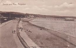 Postcard Sands And Pier Paignton Devon PU 1912 By Valentine's My Ref  B12146 - Paignton