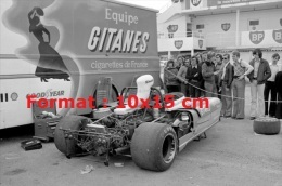 Reproduction D'une Photographie De La Matra M670 Aux 24H Du Mans De 1974 Equipe Gitane - Reproductions