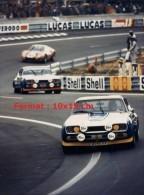 Reproduction D'une Photographie De La Porsche Martini 917LH Aux 24H Du Mans De 1971 - Reproductions
