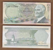 AC - TURKEY -  6th EMISSION 10 TL J UNCIRCULATED - Turquie