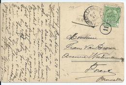 Fantasiekaart  Met OCB 83 - Afstempeling LIBRAMONT  - Lijnstempel BERTRIX - 1893-1907 Wapenschild