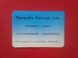 CALENDARIO DE BOLSILLO MANO PORTUGAL PORTUGUESE CALENDAR 1989 TIPOGRAFIA FORMOSA OFFSET PORTO OPORTO VER FOTO/S Y DESCRI - Calendarios