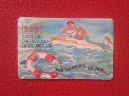 CALENDARIO DE BOLSILLO MANO PORTUGAL PORTUGUESE CALENDAR 1989 CORRETORES CORREDORES DE SEGUROS SEGURO S.O.S. VER FOTO/S - Calendarios