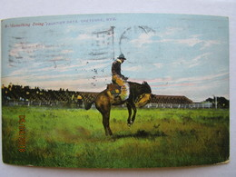 CPA USA états Unis D'amérique En 1908 CHEYENNE WYO Wyoming - Something Doing  Frontier Days  - Rodéo Cow Boy - Cheyenne