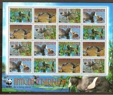 Antigua & Barbuda 2009 Yvertn° 4002-4005 *** MNH WWF Faune Oiseaux Vogels Feuillet Complète Cote 43,20 Euro - Antigua Et Barbuda (1981-...)