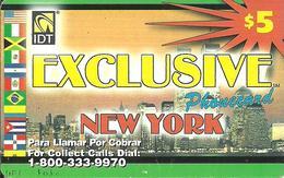 IDT: UTA Exclusive - New York 3 Month, Tel No ....9970, Serial No Small - Sonstige