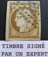 LOT R1749/46 - CERES N°1b Bistre Verdâtre ☛☛☛ Signé ROUMET + BRUN Experts - PC 2221 : NANTES - Cote : 500,00 € - 1849-1850 Cérès