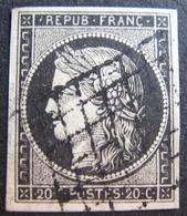 LOT R1749/47 - CERES N°3 - LUXE - GRILLE NOIRE - Cote : 65,00 € - 1849-1850 Ceres