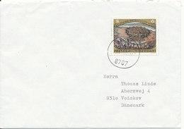 Austria Cover Sent To Denmark Leoben 22-11-1988 Single Stamped - Holograms