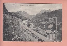 OUDE POSTKAART ZWITSERLAND - SUISSE - GRYON - LA GARE - VD Vaud