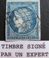 LOT R1749/48 - CERES N°4 ☛☛☛ Signé ROUMET Expert - GRILLE NOIRE - Cote : 65,00 € - 1849-1850 Ceres