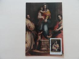 CARTE MAXIMUM CARD THE MADONNA OF THE HARPIES SAN MARINO - Madonne
