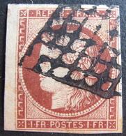 LOT R1749/50 - CERES N°6 - Petit BdF - GRILLE NOIRE - Cote : 1100,00 € - 1849-1850 Cérès
