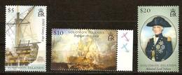 Salomon Solomon Islands  2005 Yvertn° 1161-1163 *** MNH Cote 17,50 Euro La Bataille De Trafalgar Bateaux - Salomon (Iles 1978-...)